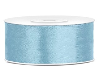 Dubbelzijdig satijn lint 25 mm Licht blauw