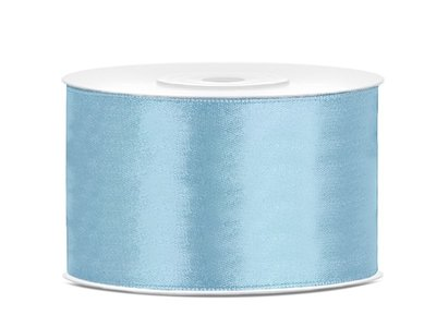Dubbelzijdig satijn lint 38 mm Licht blauw