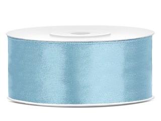 Satijn lint 25 mm Licht blauw