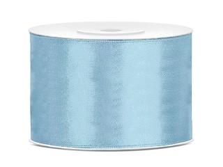 Satijn lint 50 mm Licht blauw