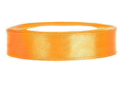Satijn lint 1.5 cm breed Licht oranje