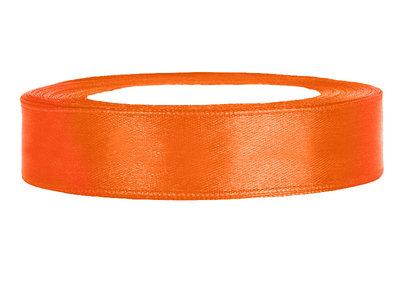 Satijn lint 1.5 cm breed oranje