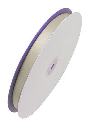 Satijn lint 6 mm breed Ivoor