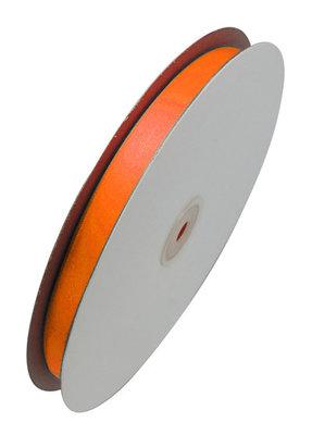 Satijn lint 1 cm breed Oranje