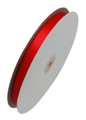 Satijn lint 1 cm breed Rood