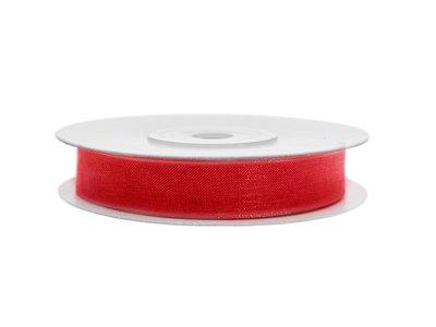 Organza lint 6 mm brandweer rood