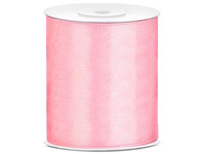 Satijn lint 100 mm Roze