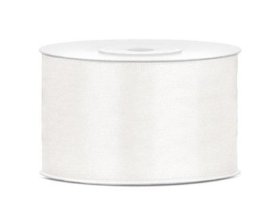 Dubbelzijdig satijn lint 38 mm Off-white