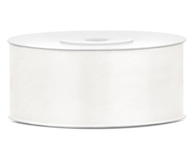 Dubbelzijdig satijn lint 25 mm Off-white