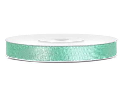 Satijn lint 6 mm Mint