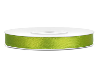 Satijn lint 6 mm Lime Groen