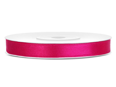 Satijn lint 6 mm Fuchsia