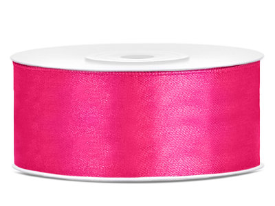 Satijn lint 25 mm Fuchsia