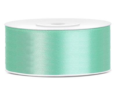 Satijn lint 25 mm mint