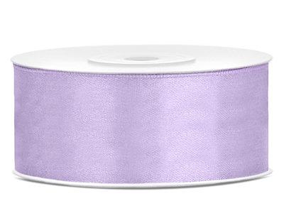 Satijn lint 25 mm Lavendel