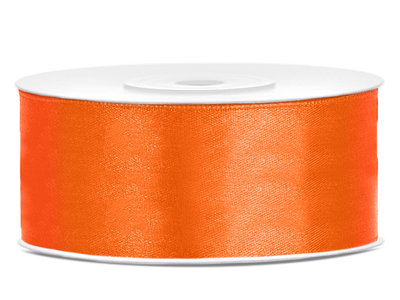 Satijn lint 25 mm Oranje