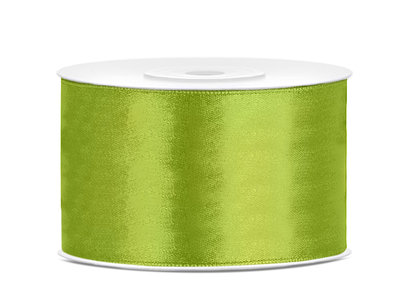 Satijn lint 38 mm Lime groen