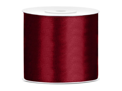 Satijn lint 75 mm Bordeaux rood