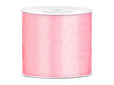 Satijn lint 75 mm Roze