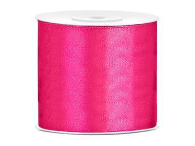 Satijn lint 75 mm Fuchsia