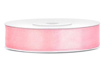 Dubbelzijdig satijn lint 12 mm Roze