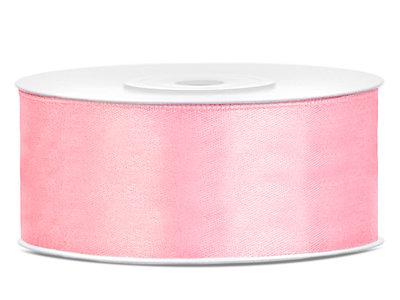 Dubbelzijdig satijn lint 25 mm Roze