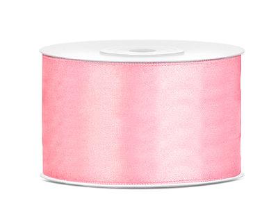 Dubbelzijdig satijn lint 38 mm Roze