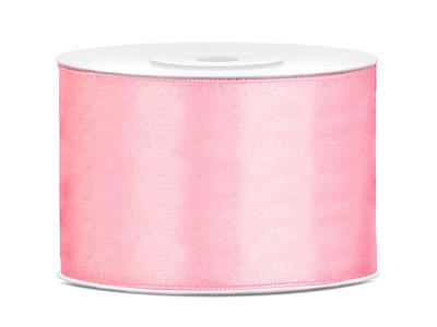 Dubbelzijdig satijn lint 50 mm Roze