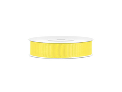 Grosgrain lint 15 mm geel