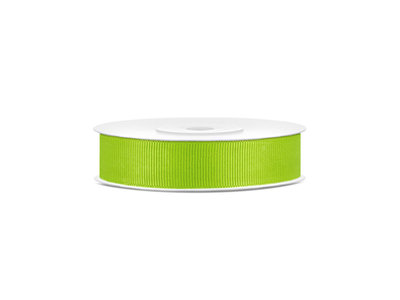 Grosgrain lint 15 mm lime groen