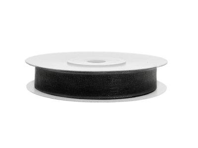 Organza lint 6 mm zwart