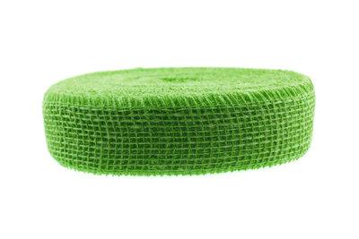Jute lint lime groen