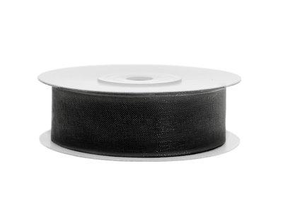 Organza lint 19 mm zwart
