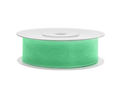 Organza lint 25 mm mint