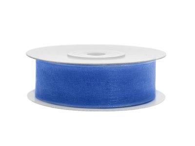 Organza lint 25 mm blauw