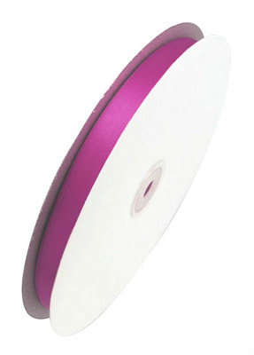 Satijn lint 6 mm breed fuchsia
