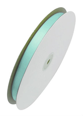 Satijn lint 1 cm breed mint