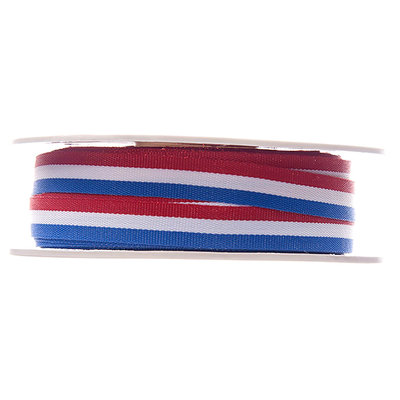 Lint rood wit blauw 10 mm breed