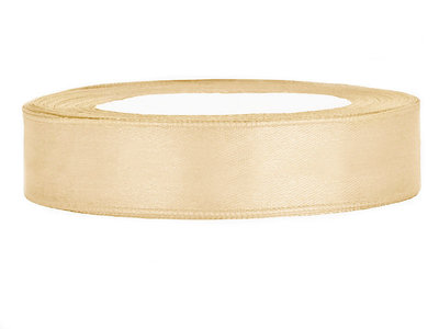 Satijn lint 6 mm beige 10 meter