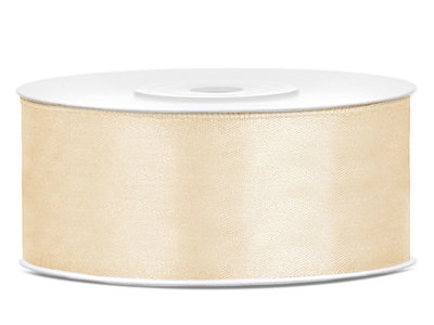Satijn lint 25 mm goud