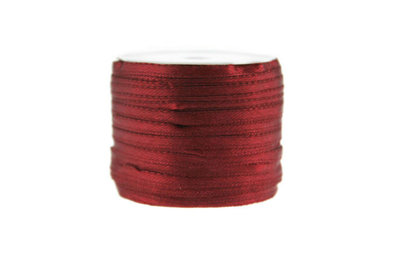 10 meter Satijn lint 3 mm Bordeaux rood