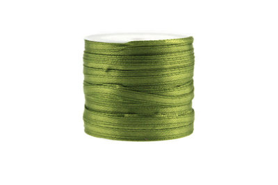 10 meter Satijn lint 3 mm Lime groen