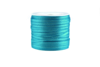 10 meter Satijn lint 3 mm Aqua