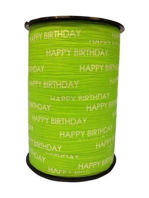 Krullint happy birthday lime groen