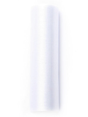 Organza op rol 16 cm breed wit