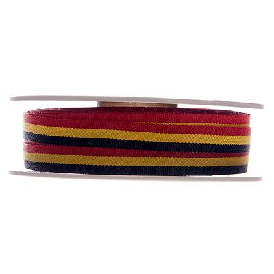 Lint België rood geel zwart 10 mm breed