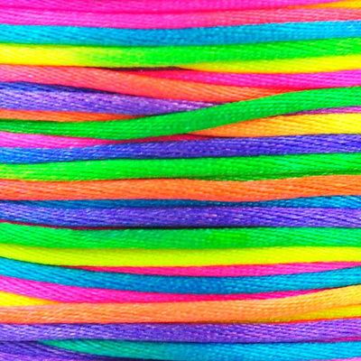 Satijnkoord 2 mm regenboog