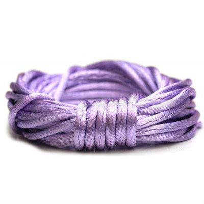 Satijnkoord 2 mm lavendel