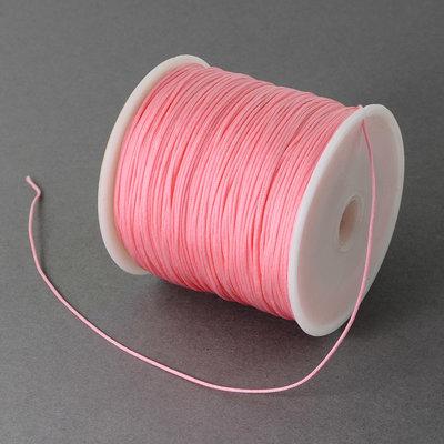 Nylonkoord 1 mm licht roze