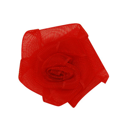 Organza bloemetje rood